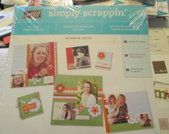 SUMMER DAYS Simply Scrappin - Scrapbook kit  - Stampin Up Retired