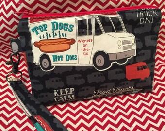 Wristlet, Make-up Bag, Purse, Cosmetic Bag, Purse Organizer, Food Truck, Food, Mini Clutch