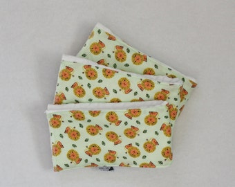 Set of 3 I'm Not Lion Burp Cloths