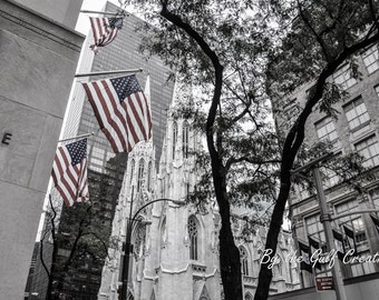 St Patrick's Cathedral, New York City, City Photography,  Architectural photography, Church, 8x10, Glossy, Fine Art Photography