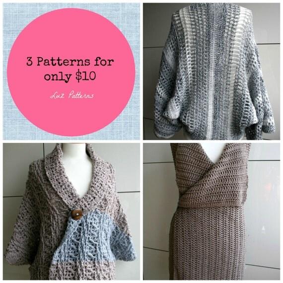 Crochet Patterns To Download : Crochet Patterns INSTANT DOWNLOAD crochet wrap patterns 3