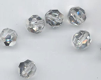 Twelve Swarovski crystals - Art. 5000 - 8 mm - non-standard finish crystal comet argent light