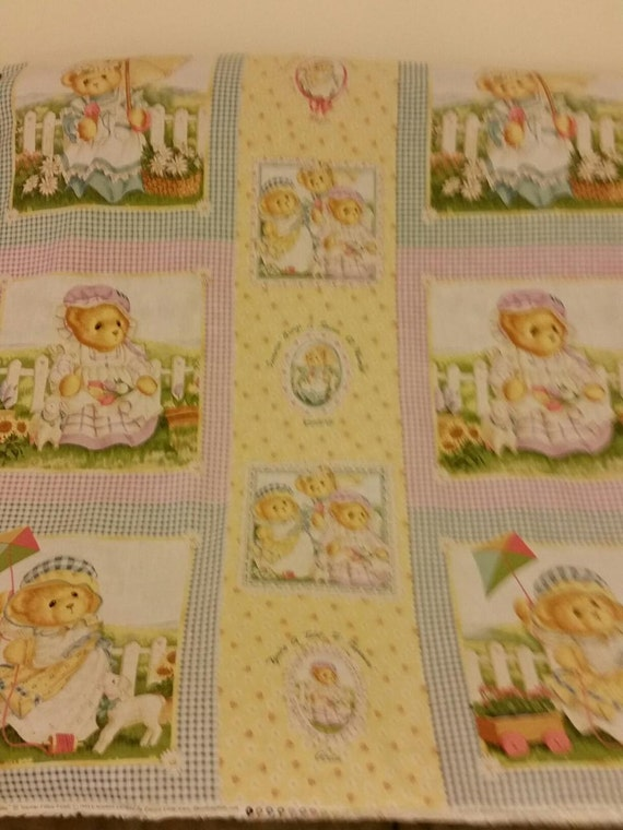 Vintage Baby Quilt Panel Stuffed Animals By Ohsewcuddly On