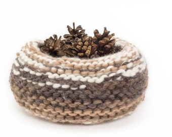 WOOLY nest bowls - attractive + practical, polychromatic bowls - browns