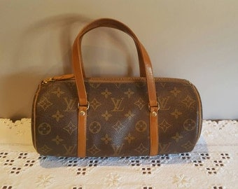 Vintage Louis Vuitton Barrel Bag Double Handled Purse Monogrammed Handbag Leather