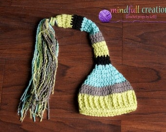 Newborn Elf Hat with Tassels