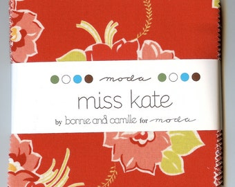 Moda Charm Pack Miss Kate by Bonnie and Camille for Moda Fabrics (42) 5 Inch Squares 55090PP