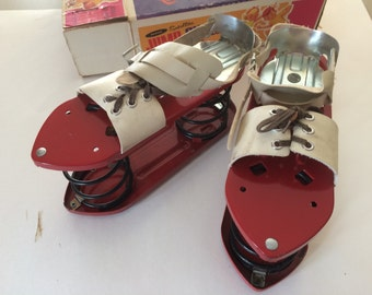 1950s Satellite Jump Toys Rapco Toys Spring Shoes Adjustable Foot Size