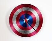 Wall clock - Captain America clock - Comic Superhero - Photo clock - Poster - Personalized Wall Clock