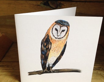 Owl card, greetings, celebration, birthday, owls, for owl lovers