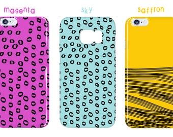 Polka Dots Galaxy s7 Edge Case Stripes iPhone 7s Case Color Options iPhone 6 Plus Case Black White iPhone 6s Case Hand Drawn Galaxy s6 Case