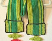 Crochet Super Mario Brothers Pirhana Plant Scarf
