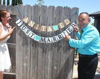 Just Married Wedding Banner, Wedding Banner