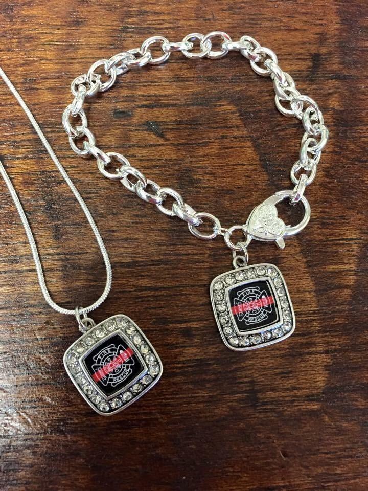 firefighter jewelry set