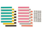 Carpe Diem - A5 Basic Tabbed Dividers and Stickers from Simple Stories - 6 Dividers and 108 Clear Label Stickers