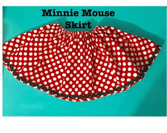 Minnie Mouse Birthday Skirt for little girls