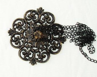 Vintage Gothic Wall or Ceiling Hanging with Chains