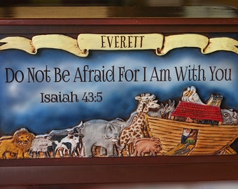 Noah's Ark Personalized Toy Box