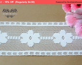 SALE 3 YARDS of White Lace Trim Ribbon 2 '' for Crafts, Sewing , Accessories