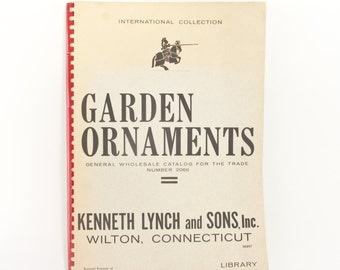 Rare Kenneth Lynch and Sons Garden Ornaments Wholesale Catalog, 1966, International Collection, Library Edition