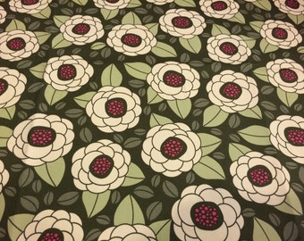 """Joel Dewberry Bloom Thyme HDJD02 100% cotton sateen home decor weight fabric 55"""" wide sold by the yard."""
