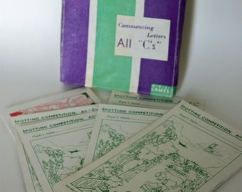 """Vintage Picture Hunt Commencing Letters All """"C's"""