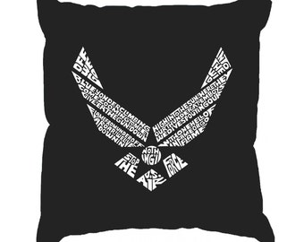 Throw Pillow Cover - Word Art - Lyrics To The Air Force Song