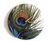 Sale, Peacock Wall Clock, Trending Feathers Decor, Unique Wall Clock, Housewarming Gift, Decor and Housewares, Home Decor