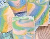 Patchouli Rainbow-  Handmade Goat's Milk soap with Shea and Cocoa Butter -  Handmade in BC, Canada