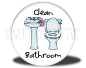 Clean Bathroom - Chore Magnet