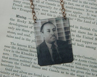Arna Bontemps necklace Harlem Renaissance mixed media jewelry Literature jewelry African American History