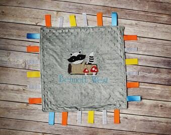 Woodland Theme Sensory Tag Blanket
