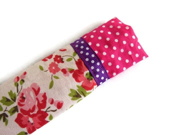 Pink Protective Sleeve For Emery Board - Nail File Case - Emery Board Cover - Ribbon Detail