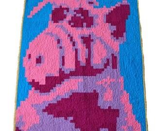 Modern Quilt - Alf Quilt - Pixel Quilt - Toddler Quilt - Crib Quilt