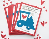 Train Valentines Day Cards - Personalized