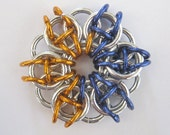 Celtic Stars Aluminum Chainmaille Pendants or Ornaments