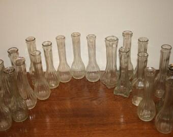 20 Wedding Clear Vases,centerpiece vases,vases for weddings,clear vases,vase set,vase lot,wedding vases,wedding vase lot,wedding vase set