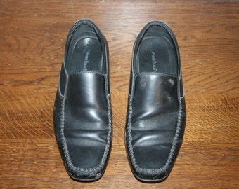 Size 8,Mens Leather Loafers,mens loafers,loafers,leather loafers,loafers men,loafers 8,black loafers,men shoes 8,slip ons,slip on men