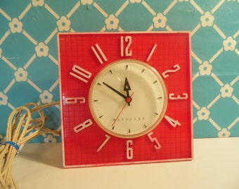 Red Kitchen Clock - Westclock - Square