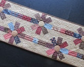 Pretty Flowers Quilted Table Runner Moda Alice's Scrapbag