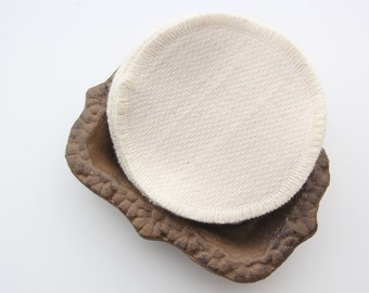 "Organic Cotton Birdseye Facial Rounds Set of 12 -- Double Layer 4"" Diameter, Choose your Quantity and Thread"