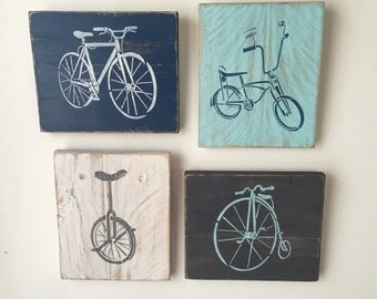 Bicycles - 4 piece wall decor