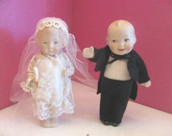 "Bride & Groom Bisque Babies w Original box 6"" Tall Vintage  All REASONABLE offers considered"