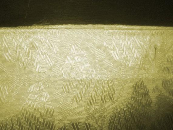 Vintage Shower Curtain Pale Lemon Yellow W Seashells By Myshop1020