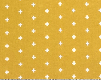 Wander by Joel Dewberry for Free Spirit - Cross - Maize - Fat Quarter - FQ - Cotton Quilt Fabric 916