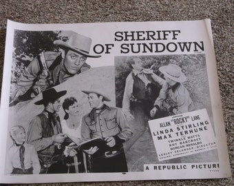 "Vintage 1944 ""Sheriff Of Sundown"" Poster"