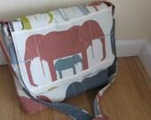 CUSTOM ORDER Organic Messenger Bag