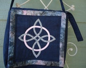 Shoulder Bag, Celtic Knot, Celtic Cross, Fantasy Art, Celtic Art, Hand Made, Cross Body Bag