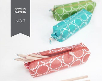 Pencil Case Tutorial, PDF Patterns, back to school, pencil pouch