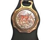 Deer Family Horse Brass on Strap Vintage from the UK
